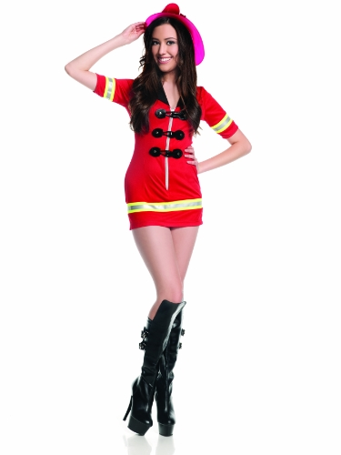 Mystery House Teen Fire Fighter Costume