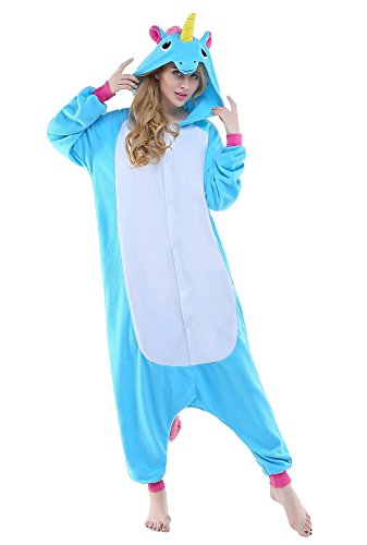 Newcosplay Adult Anime Unisex Cartoon Pyjamas Halloween Onesie Costume