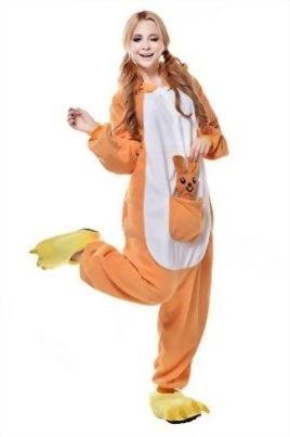 Newcosplay-Unisex-Adult-Cosplay-Pyjamas-Kangaroo-Halloween-Onesie-Cartoon-Costumes-0-0