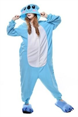 Newcosplay-Unisex-Adult-Cosplay-Pyjamas-Koala-Halloween-Animals-Onesie-Costumes-0-0