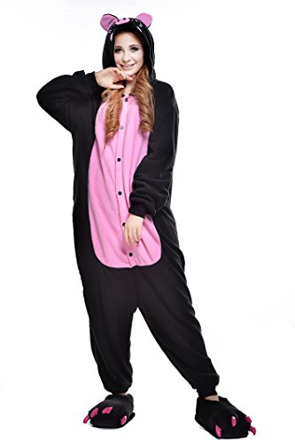 Newcosplay Unisex Adult Cosplay Pyjamas Pig Halloween Onesie Animals Costumes