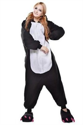 Newcosplay-Unisex-Black-Penguin-Pyjamas-Halloween-Costume-0-0