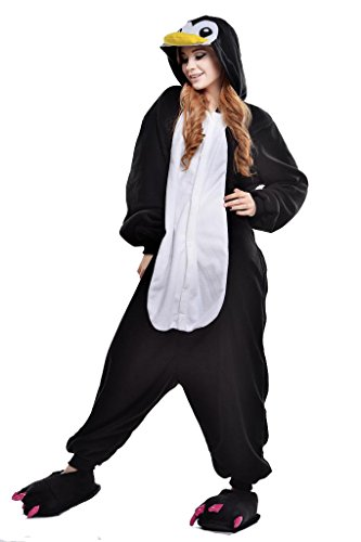 Newcosplay-Unisex-Black-Penguin-Pyjamas-Halloween-Costume-0