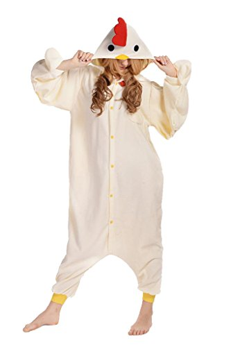 Newcosplay Unisex Chicken Pyjamas Halloween Costume