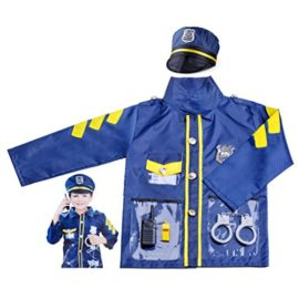 PROLOSO-Kids-Police-Officer-Role-Play-Costume-Halloween-Party-Pretend-Play-Set-0