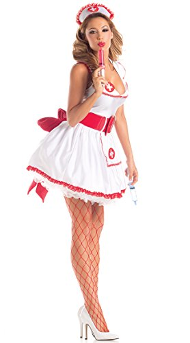 Party King Women's Naughty Nurse Sexy 4 Piece Costume Set