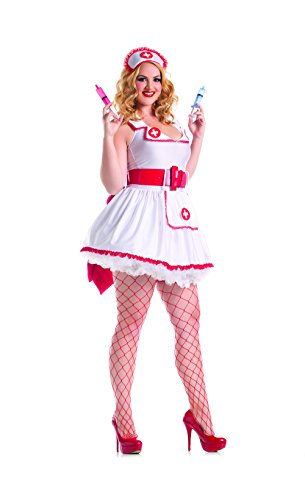 Party King Women's Plus Size Naughty Nurse Sexy Costume
