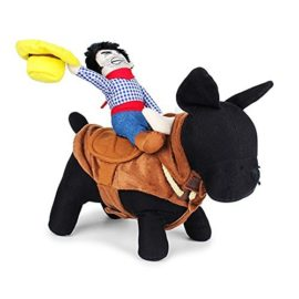 Pet-Costume-Apparel-Dog-Riders-Cowboy-Wear-Style-Knight-Harness-Clothing-with-Hat-L-0-1