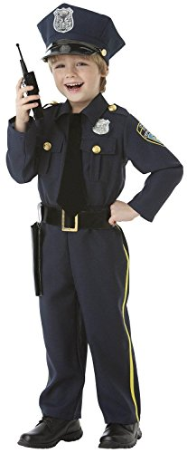 Police-Officer-5-Piece-Boys-Costume-Set-Size-Medium-8-10-0