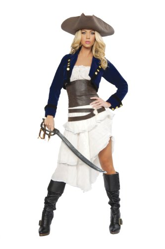 Roma Costume Deluxe 6 Piece Colonial Pirate Costume