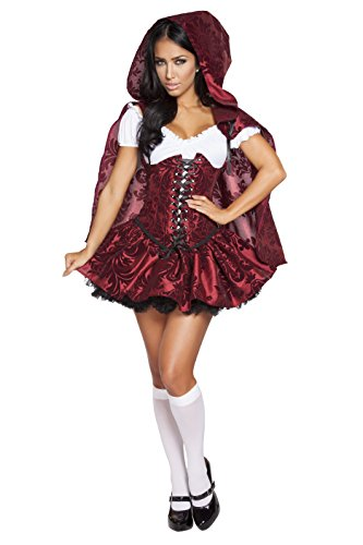 Roma Costume Women's 4 Piece Lusty Lil' Red