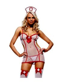 RuSong-Womens-Sexy-Sheer-Nurse-Uniforme-Nightie-Lingerie-Cosplay-Set-0