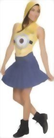 Rubies-Costume-Co-Womens-Minion-Face-Hooded-Costume-Dress-0