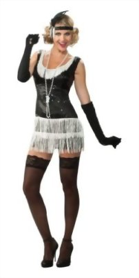 Rubies-Costume-Deluxe-Adult-Black-Sequin-Flapper-Dress-0