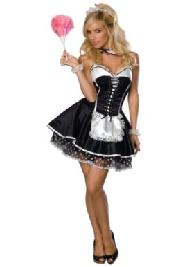 Rubies-Womens-Sexy-Naughty-French-Maid-Theme-Party-Fancy-Dress-Halloween-Costume-0