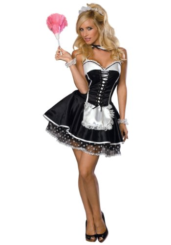 Rubies Womens Sexy Naughty French Maid Theme Party Fancy Dress Halloween Costume
