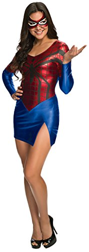 Secret Wishes Women's Marvel Universe Spidergirl Costume Dress and Mask