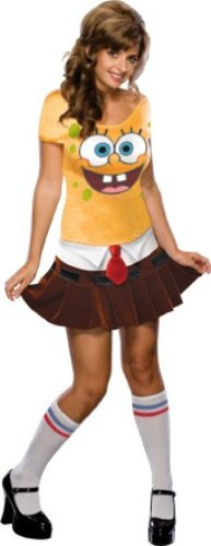 Secret-Wishes-Womens-Sponge-Babe-Costume-Yellow-S-46-0
