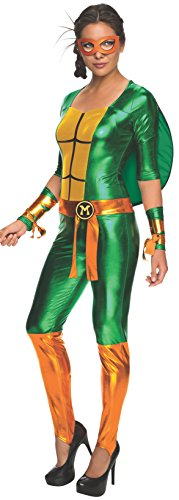 Secret-Wishes-Womens-Teenage-Mutant-Ninja-Turtles-Michelangelo-Costume-Jumpsuit-0