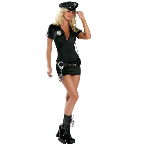 Sexy-Cop-Police-Costume-Uniform-outfit-fancy-dress-w-handcuffs-belt-hat-0
