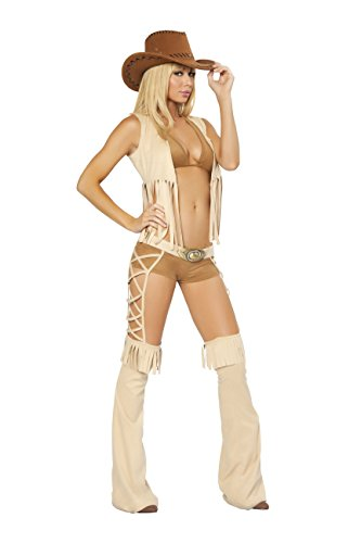 Sexy Women's 5pc Easy Rider Cowgirl Western Hottie Costume