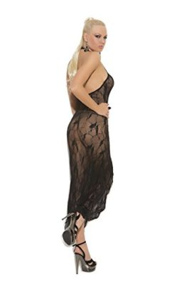 Sexy-Womens-Butterfly-Lace-Slip-Style-Lingerie-Gown-With-Front-Slit-0-0