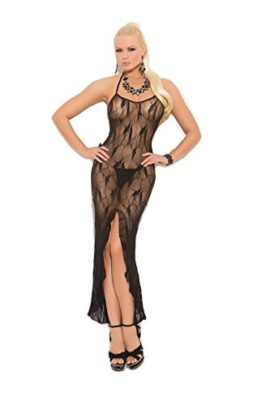 Sexy-Womens-Butterfly-Lace-Slip-Style-Lingerie-Gown-With-Front-Slit-0