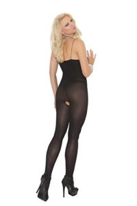 Sexy-Womens-Plus-Size-Spaghetti-Strap-Open-Crotch-Opaque-Bodystocking-Lingerie-0-0