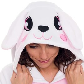 Silver-Lilly-Unisex-Adult-Pajamas-Plush-One-Piece-Cosplay-Bunny-Animal-Costume-0-0