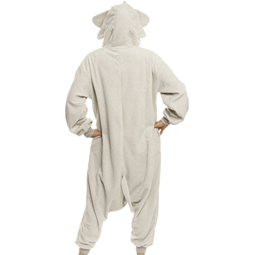 Silver Lilly Unisex Adult Pajamas - Plush One Piece Cosplay Elephant ... b32f185e5