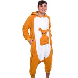 Silver-Lilly-Unisex-Adult-Pajamas-Plush-One-Piece-Cosplay-Kangaroo-Animal-Costume-0-0