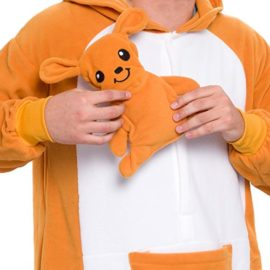 Silver-Lilly-Unisex-Adult-Pajamas-Plush-One-Piece-Cosplay-Kangaroo-Animal-Costume-0-2