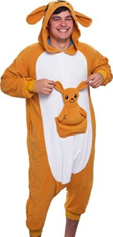 Silver-Lilly-Unisex-Adult-Pajamas-Plush-One-Piece-Cosplay-Kangaroo-Animal-Costume-0