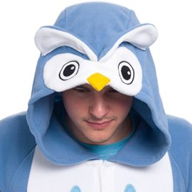 Silver-Lilly-Unisex-Adult-Pajamas-Plush-One-Piece-Cosplay-Owl-Animal-Costume-0-1