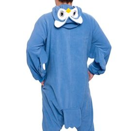 Silver-Lilly-Unisex-Adult-Pajamas-Plush-One-Piece-Cosplay-Owl-Animal-Costume-0-2