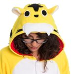 Silver-Lilly-Unisex-Adult-Pajamas-Plush-One-Piece-Cosplay-Tiger-Animal-Costume-0-1