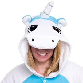 Silver-Lilly-Unisex-Adult-Pajamas-Plush-One-Piece-Cosplay-Unicorn-Animal-Costume-0-1