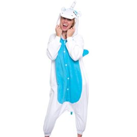 Silver-Lilly-Unisex-Adult-Pajamas-Plush-One-Piece-Cosplay-Unicorn-Animal-Costume-0