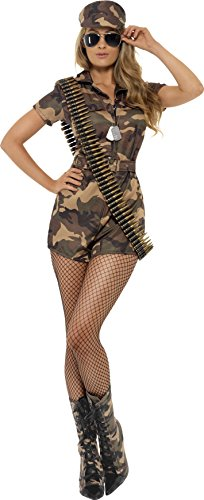 Smiffy's Women's Army Girl Sexy Costume