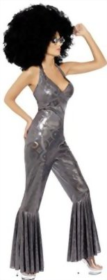 Smiffys-Womens-Disco-Diva-Flared-Jumpsuit-Costume-0-1