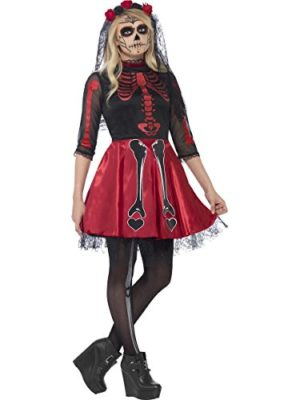 Smiffys-Womens-Petite-Teen-Day-Of-The-Dead-0