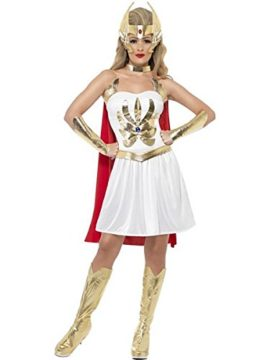 Smiffys-Womens-She-ra-Costume-Dress-Armcuffs-Bootcovers-Headpiece-0