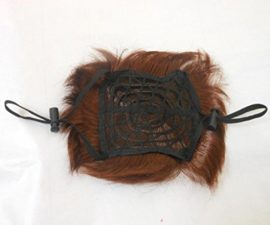 SporerPet-Costumes-Lion-Mane-Wig-Cat-Costume-and-Small-Dog-Costume-with-Complimentary-Feathered-Catnip-Toy-Brown-Headwear-Hat-with-Ears-for-Halloween-Christmas-A-0-2