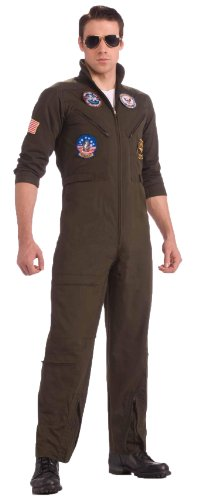 Top Gun US Navy Adult Flight Suit Costume, Plus Size