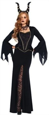 UHC-Womens-Evil-Enchantress-Maleficent-Dress-And-Horns-Outfit-Halloween-Costume-0