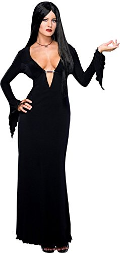 UHC Women's Morticia Addams Family Gothic Vampire Witch Halloween Costume