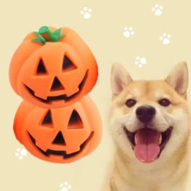 UNAKIM-Orange-Halloween-Pumpkin-Pet-Dog-Chew-Fun-Play-Toy-Squeak-Pet-Supply-1pc-2017-0-0