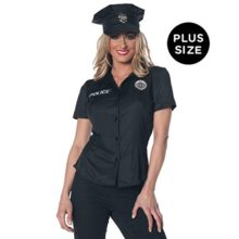 Underwraps-Womens-Plus-Size-Police-Fitted-Shirt-0