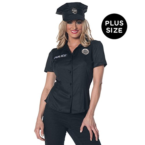 Underwraps Women's Plus-Size Police Fitted Shirt