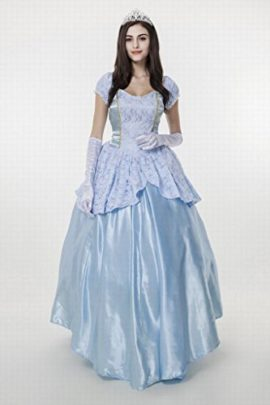 Womens-Enchanting-Princess-Costume-Cinderella-Ball-Gown-Fairy-Tale-Deluxe-Dress-0-0